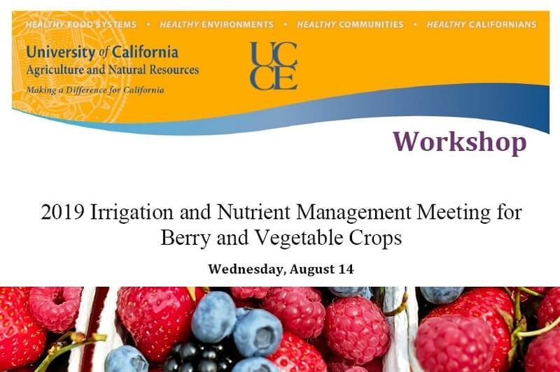 Irrigation & Nutrient Management Meeting 2019